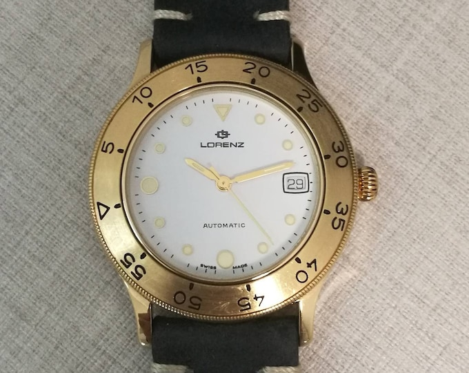 Automatic LORENZ Vintage watch with box and documents in excellent condition