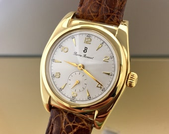 Rare PIERRE BONNET lady/Unisex Watch gold plated manual-winding mechanical movement. Perfect conditions