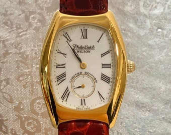 Rare PHILIP WATCH wilson limited edition 18kt gold