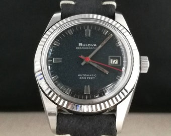 Bulova Oceanographer watch 333 feet automatic vintage