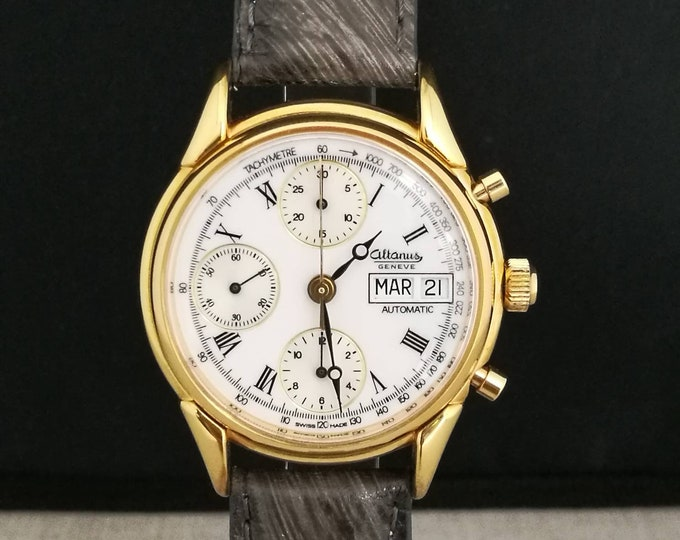 Watch ALTANUS Automatic Chronograph day-date vintage years 80/90