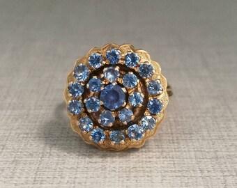 Vintage 18kt and topazes gold ring