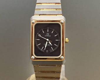 OMEGA seamaster lady Vintage steel and gold 80s watch with documents