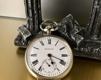 Antique ZENITH Watch from Pocket Grand Prix Paris 1900 mechanical manual Roman numerals
