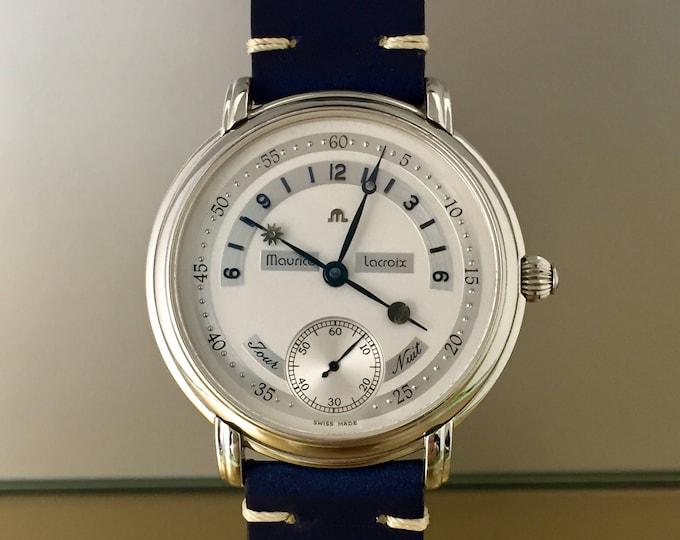 Special Watch MAURICE LACROIX Masterpiece jour et nuit excellent condition with documents.