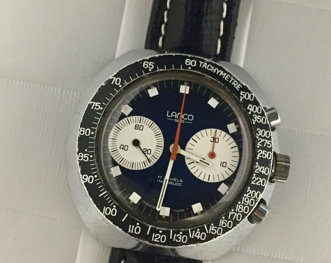 LANCO watch chronograph vintage hand-wound