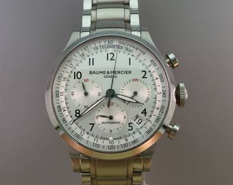 BAUME & MERCIER Capeland XL chronograph automatic box and papers
