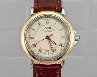 Rare clock NICOS WATCH vintage 18kt gold of 1940/50