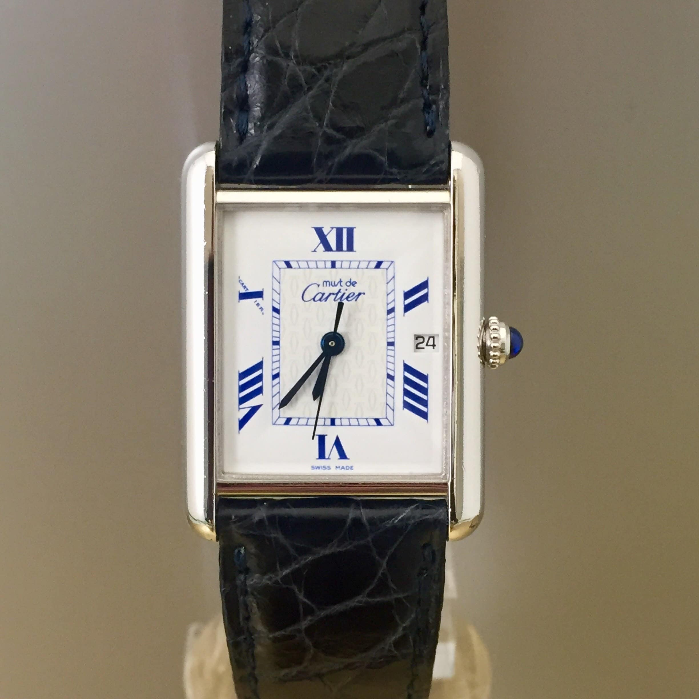 ae736970de6 Cartier Tank Watch 2414 Mens unisex Quartz Movement