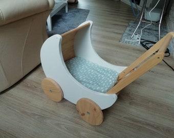 a Little Wooden Pram - toy