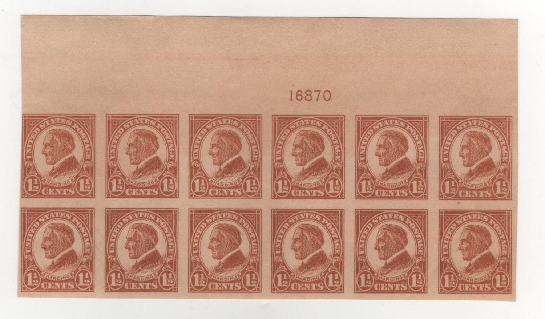 1 2 Cent 1925 Harding Imperforate Scotts 576 Briefmarke