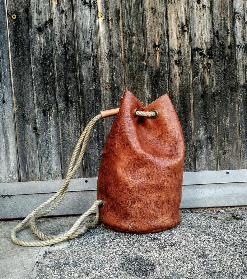 7b9350bb53 Borsa artigianale Vera Pelle fatta a mano sacco cuoio cucito a   Etsy