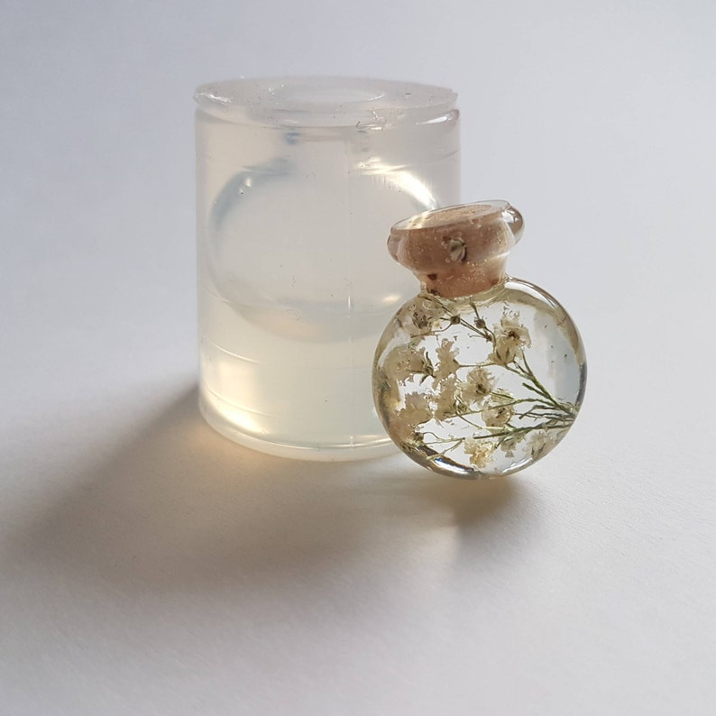 Bottle clear transparent silicone mould for resin jewellery H image 0