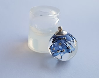 Sphere mold for resin 25 mm, transparent clear silicone mould, pendant mold (~8ml)