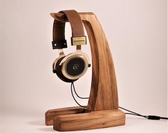 Wooden headphone holder, headphone stand, headphone hanger