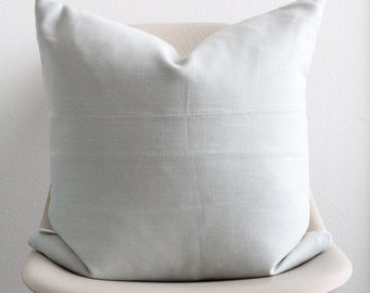"""20"""" x 20"""" Light Blue Pillow Cover (White Back) - Accent Pillow - COVER ONLY"""