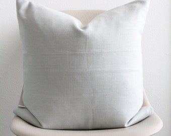 """20"""" x 20"""" Light Blue Pillow Cover (Neutral Back) - Accent Pillow - COVER ONLY"""