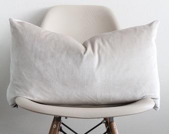 "14"" x 24"" Moonbeam Velvet Pillow Cover - Lumbar Pillow - COVER ONLY"