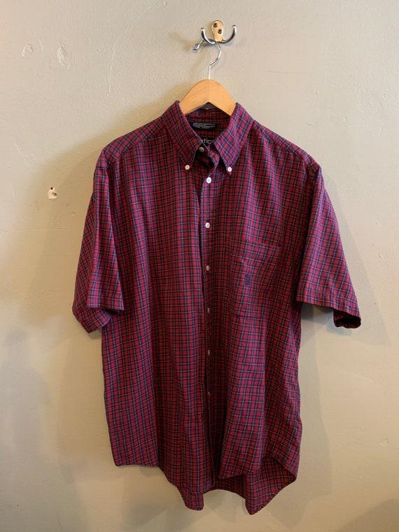 NAUTICA / mens vintage shirt / classic plaid / sho