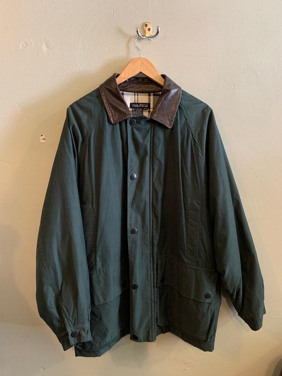 NAUTICA / vintage fall jacket / Barbour look alike
