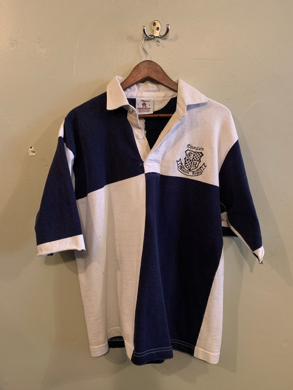Vintage Rugby shirt / Shortsleeve rugby shirt / W… - image 1