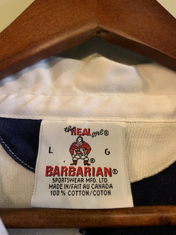 Vintage Rugby shirt / Shortsleeve rugby shirt / W… - image 5