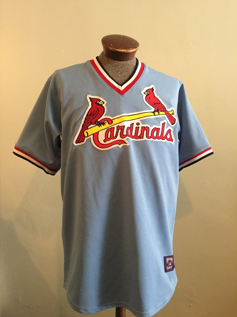 newest collection 24bad ddbd8 St Louis CARDINALS / baby blue / MLB vintage / Cooperstown / jersey /  baseball shirt / mens L