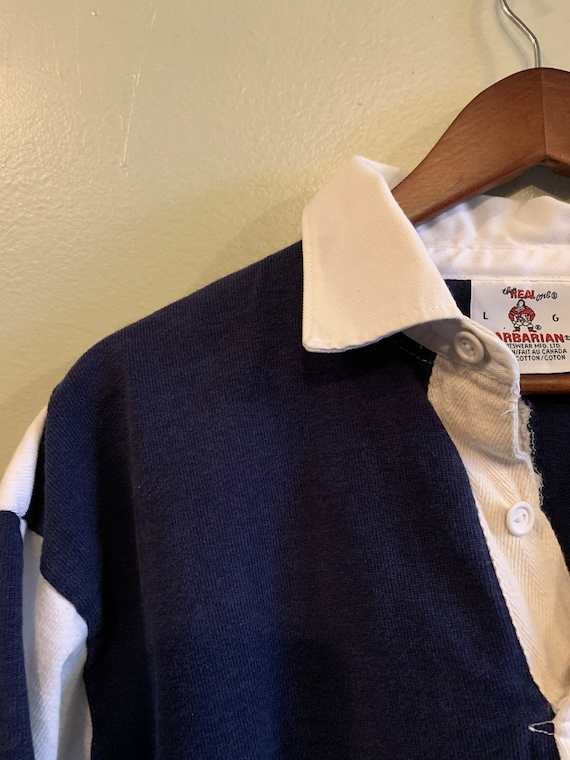Vintage Rugby shirt / Shortsleeve rugby shirt / W… - image 2