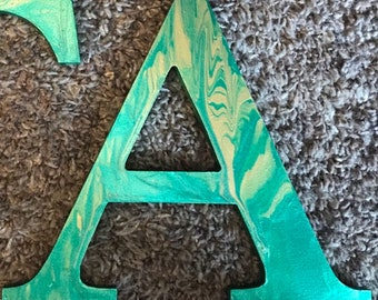 Marble Painted Wooden Letter