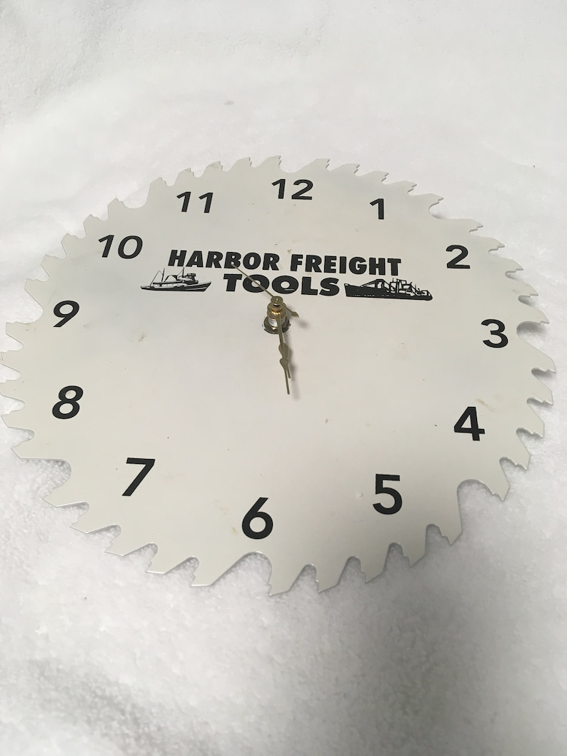 Vintage Saw Blade Harbor Freight Tools Wall Clock