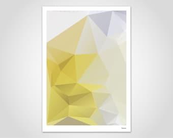 Yellowpoly — Poster, Scandinavian Art, Pastel, Christmas, Art Print, Pictures, Scandinavian, Friendship, Mountains, Marble, Geometric