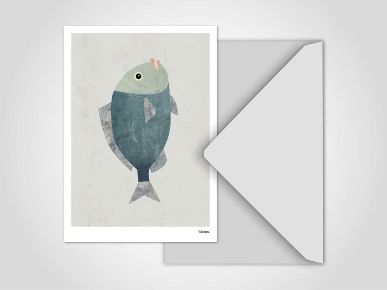 Postcard Fish 2 / Greeting Cards Cards Humor Comic Funny image 0