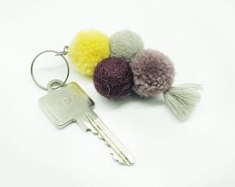 Felt ball N8 / keychain, closure sand felt ball, key ring felt, key ring, moving gift Nepal felt, gift Christmas