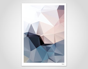 Spring 1 — Poster, Art Print, Scandinavian Poster, Art, Art Print, Modern, Illustration, Abstract, Geometry, Gift, Lowpoly