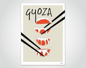 banum Gyoza Dumplings — poster, art print kitchen, funny saying poster Gyoza, poster Gyoza dumplings, poster Japan Asia, poster dumpling Veggy