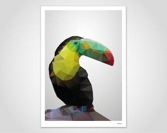 tutocion — poster, art print, Scandinavian, pictures, decoration, paper, geometric, summer, spring, friendship, family, animals, bird, parrot