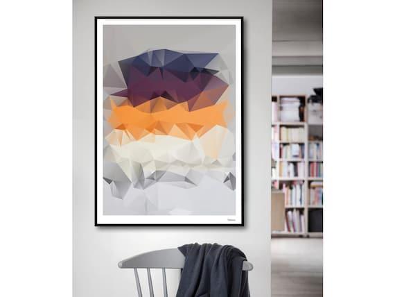 Ifa Moderne Poster Abstrakte Kunstdrucke Modern Kunst Blau Geometrische Bilder Minimalistisch Sommer Frühling Blumen Illustration