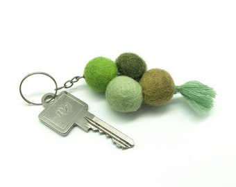 Felt ball N1 / keychain, closure sand felt ball, key ring felt, key ring, moving gift Nepal felt, gift Christmas