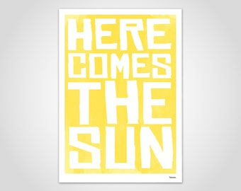 Sun — Poster, Art Print, Pictures, Decoration, Scandinavian, Paper, Pastel, Marble, Summer, Minimalist, Funny Sayings, Sun, Holiday, Sea