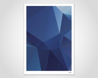 Darkblue — watercolor, poster, art prints, pictures, decoration, Scandinavian, paper, geometric, pastel, marble, summer, mountains, minimalist