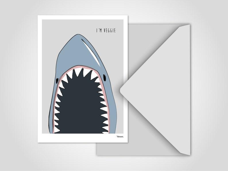 Postcard Shark / Greeting Cards Cards Humor Comic Funny image 0