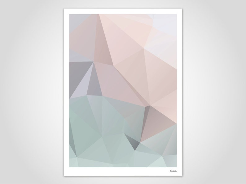 Pastel No. 2/modern posters abstract art prints image 0