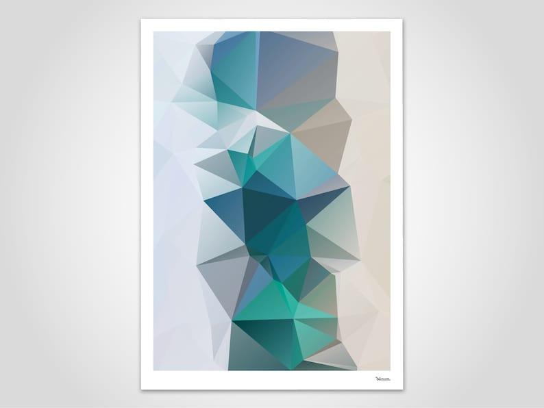 Aqua 2 / Poster Picture Art Print Scandinavian Art Water image 0