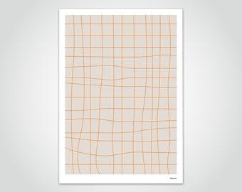 banum line — poster pastel, poster gradient, poster fine line art, poster graphic design, pictures modern art, poster illusion lines