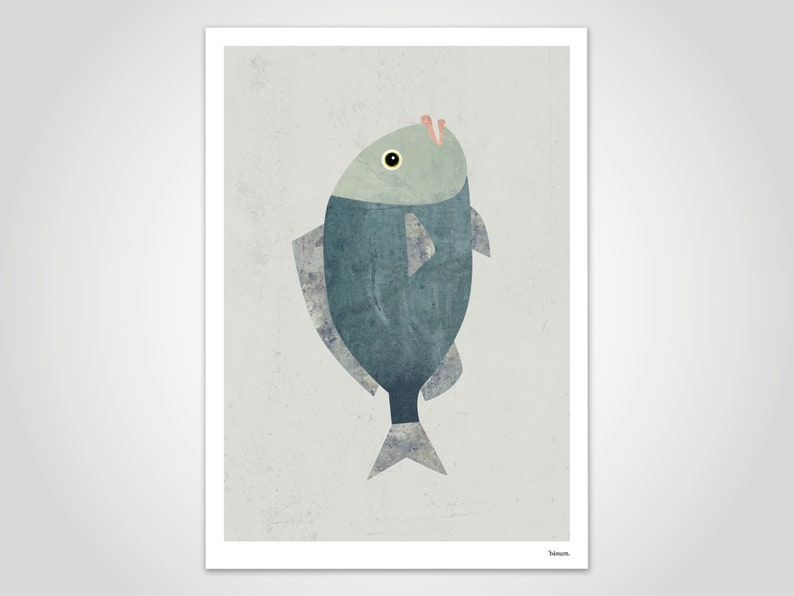 Fish 2/Poster Art Prints Prints Gift Illustration Animal image 0