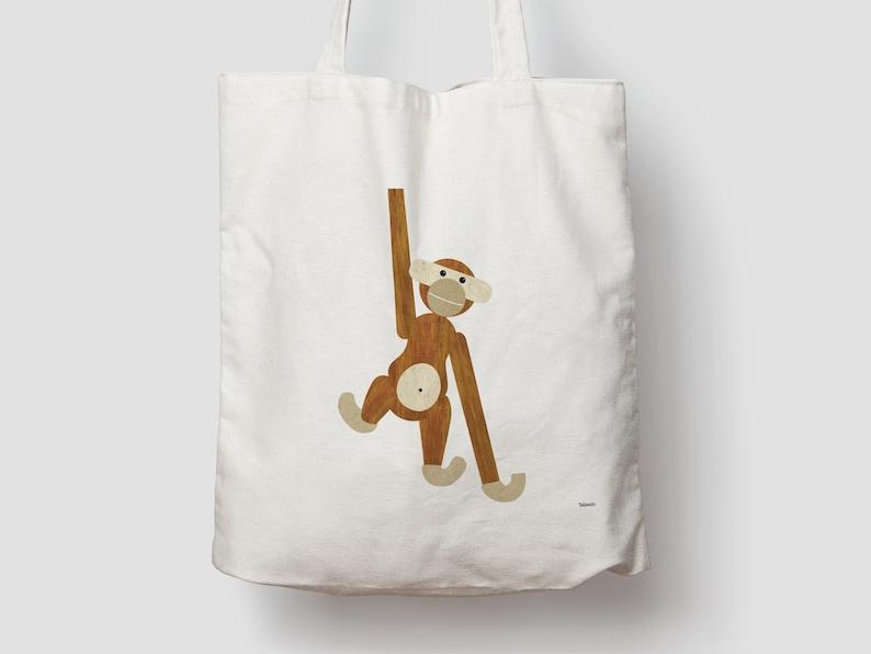 Monkey/jute bag cotton bag shopping bag jute jute bag image 0