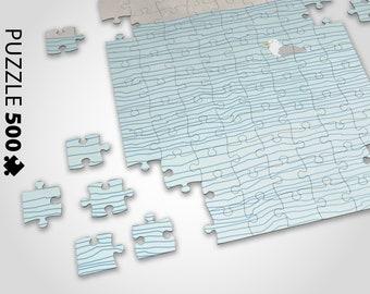 Puzzle Seagull — Puzzle 500 Pieces, Art Puzzle, Puzzle Poster, Puzzle Picture, Art Print Puzzle, Scandinavian Art Puzzle, Gift Games