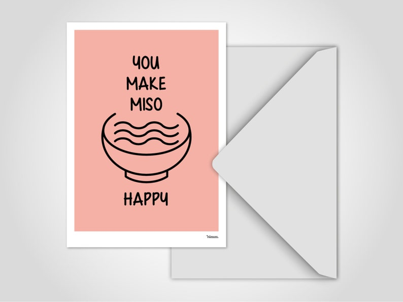 Postcard Miso  Funny Saying Card Holiday Card Postcard image 0