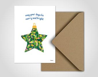 Star Christmas — Christmas Cards, Postcards, Greeting Cards, Christmas, Merry Christmas Card, Advent Card, Christmas Ball, Fir Tree Ball
