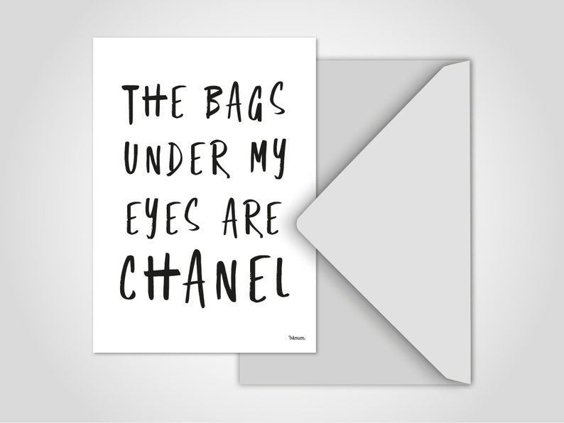 Postcard Chanel / Greeting Card Humor Comic Funny Card image 0